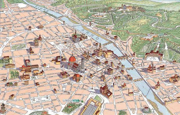 kart over firenze Kart og adresse til språkskolen i Firenze   Italia   SIOC  kart over firenze
