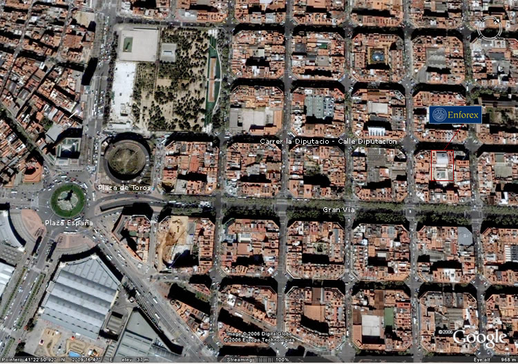 Enforex barcelona map