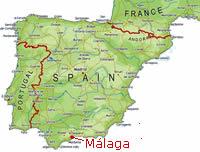 kart over malaga Spansk språkkurs i Malaga, Spania   lær spansk på språkskole  kart over malaga